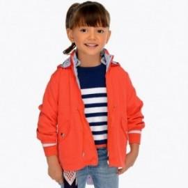 Mayoral 3413-10 Dívčí obojstranná červená bunda