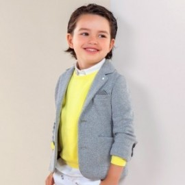 Mayoral 3422-34 Chlapčenská pletená bunda šedá