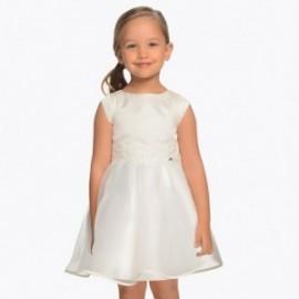 Mayoral 3911-91 Dívčí krémové šaty