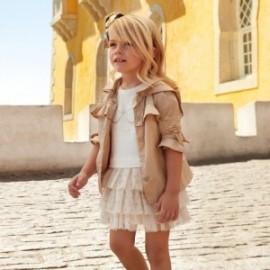 Mayoral 3939-28 Dívčí zlaté šaty