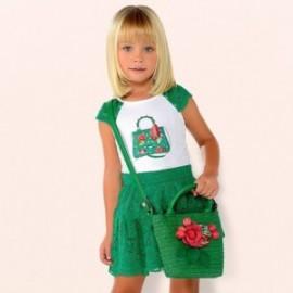 Mayoral 3958-70 Dívčí souprava s krajkou zelená