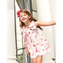 Abel & Lula 5020-9 Dívčí šaty bílé barvy