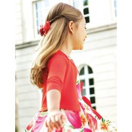 Abel & Lula 5305-31 červený dívčí svetr