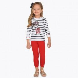 Mayoral 748-56 Dívčí legíny červená barva