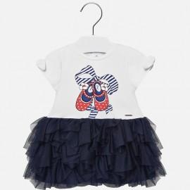 Mayoral 1942-32 Dívčí šaty barva granát