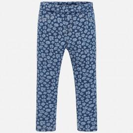 Mayoral 3527-79 Spodnie długie jeans nadruk kolor Kwiatuszki