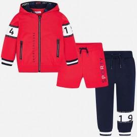Mayoral 3809-42 Dres 3-częściowy kolor Czerwony