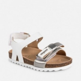 Mayoral 41040-18 Dívčí sandály na korkové bílé