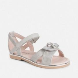 Mayoral 43043-30 Stříbrné dívčí sandály