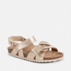 Mayoral 43061-67 Dívčí sandále na korkovém zlatě