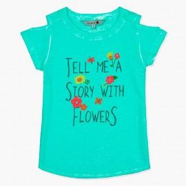 Boboli tričko pro dívky modrá 407124-4459