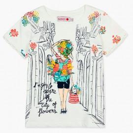 Boboli tričko pro dívky bílé 407157-1111