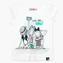 Boboli tričko pro dívky bílé 417035-1100