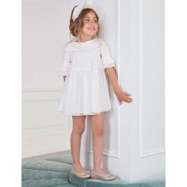 Abel & Lula 5005-3 Dívčí krémové šaty