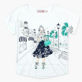 Boboli tričko pro dívky bílá 417170-1100