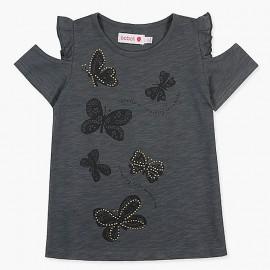 Boboli tričko pro dívky grafit 427069-8076