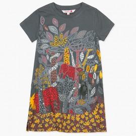 Boboli bavlněné šaty pro dívky grafit 427193-8076
