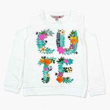 Boboli košile pro dívky bílá 457163-1100