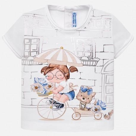 Mayoral 1010-33 Dívčí tričko s barevným šampaňským