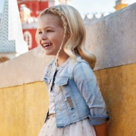 Mayoral 3408-49 Bunda džíny dívčí světle modrá