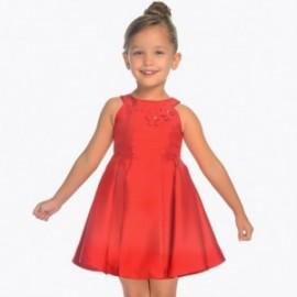 Mayoral 3928-35 Dívčí šaty s taftovou červenou