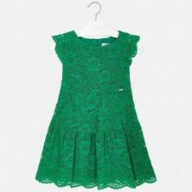 Mayoral 3934-76 Dívčí zelené šaty