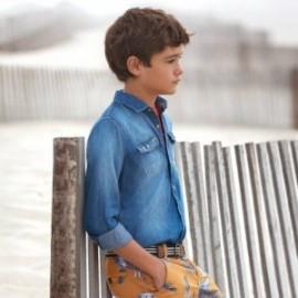 Mayoral 6135-37 Chlapec košile námořnově modrá