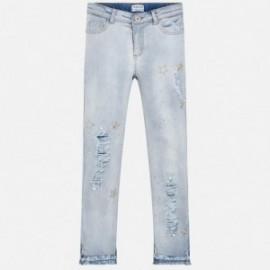 Mayoral 6503-69 Kalhoty dívky dlouhé džíny modré