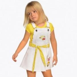 Mayoral 3906-65 Zahradní sukně s výšivkou bílá