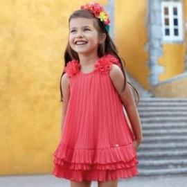 Mayoral 3926-59 Dívčí červené pletené šaty