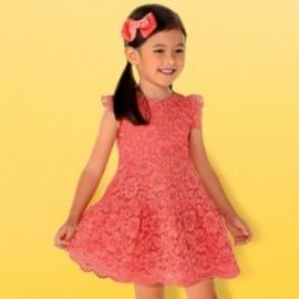 Mayoral 3934-78 Dívčí korálové šaty