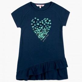 Boboli Pletené šaty pro dívky námořní 417169-2440