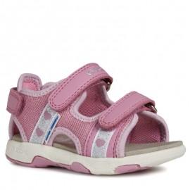Geox sandály pro dívky růžové B920DB-01454-C8006-S
