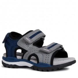 Geox chlapčenské šedé sandály J920RD-000CE-C0244