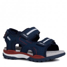 Geox chlapčenské šedé sandály J920RD-000CE-C0735