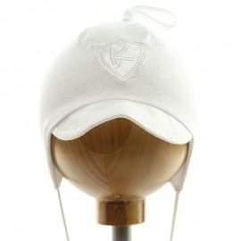 Krochetta klobouk chlapec se štítkem bílá 55-461