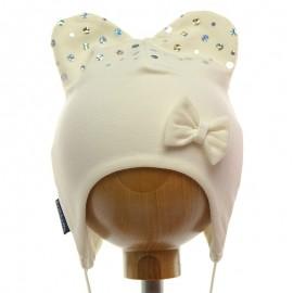 Dívčí klobouk Krochetta krém 28-461