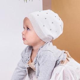 Jamiks klobouk pro dívky přechodově bílá ROLETTA JWB090-2