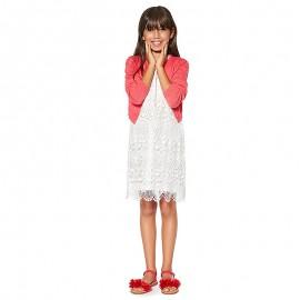 Losan krajkové šaty pro dívky krém 914-7791AA-735