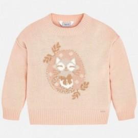 Mayoral 4320-58 Dívčí růžový svetr