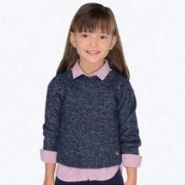 Mayoral 4322-32 Dívčí svetr na hlavu granát