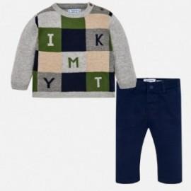 Mayoral 2586-80 svetr s kalhotami pro přítele šedé