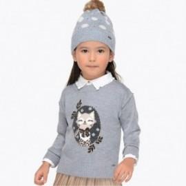 Mayoral 4320-56 Stříbrný dívčí svetr