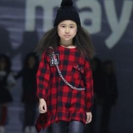 Mayoral 7952-32 Kostkované dívčí šaty červená