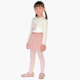 Mayoral 4980-94 Sada dívčí blůzy a sukně bílá / růžová