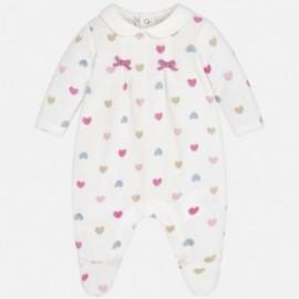Mayoral 2762-19 Dívčí pyžama v srdcích krém