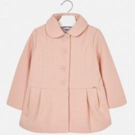 Mayoral 4496-55 kabát dívčí barva prášek