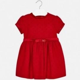 Mayoral 4950-28 šaty holčičí barva červená
