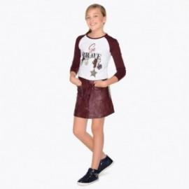 Mayoral 7910-35 Kožená sukně holčičí bordó