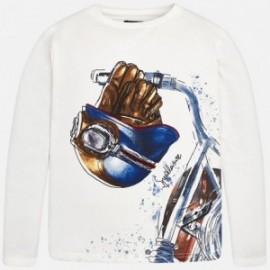 Mayoral 7014-10 Chlapecké tričko s dlouhými rukávy smetanový